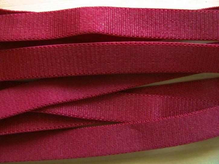 5m Satin-Träger-Gummi in wein-rot Fb0918