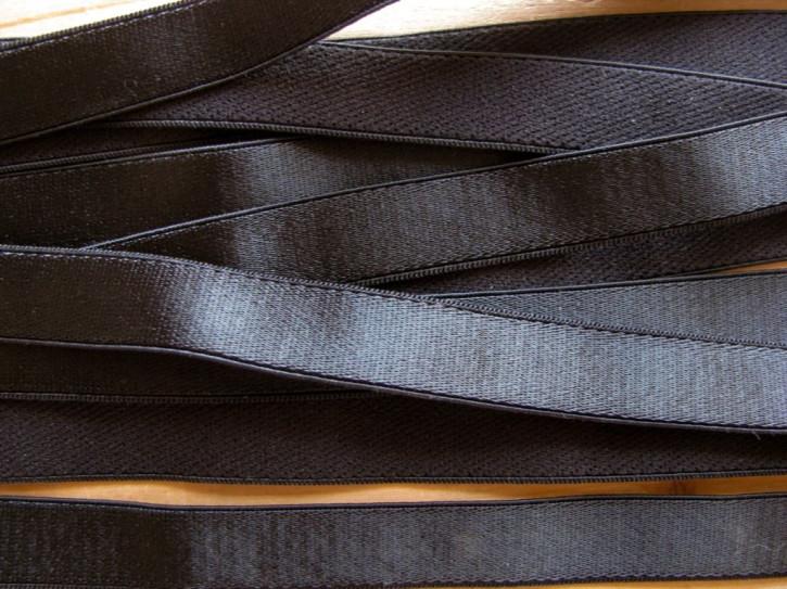 5m Satin-Träger-Gummi in schwarz Fb4000 - 13mm