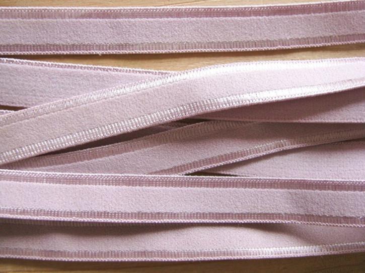 5m Satin-Träger-Gummi in pudrigem rosa Fb1063 - 10mm