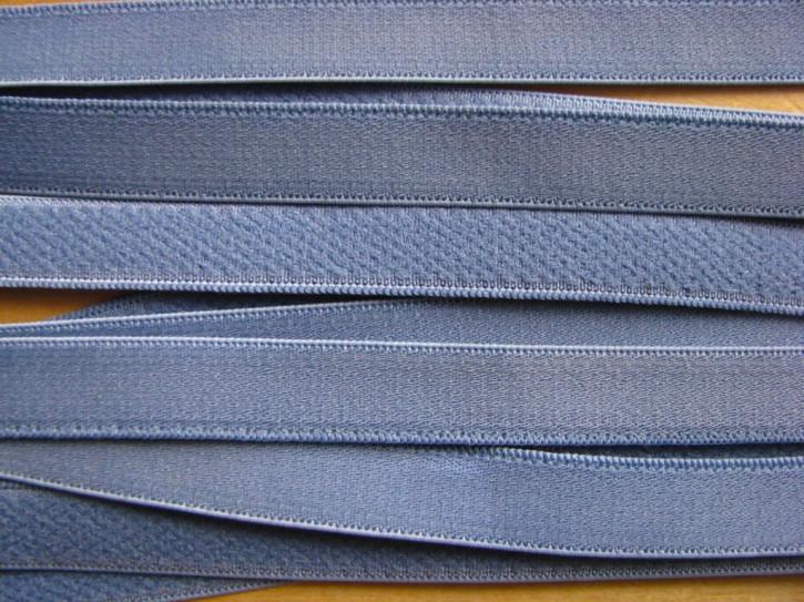 5m Träger-Gummi/Schulterband in chambray/Richtung jeans-blau Fb1363