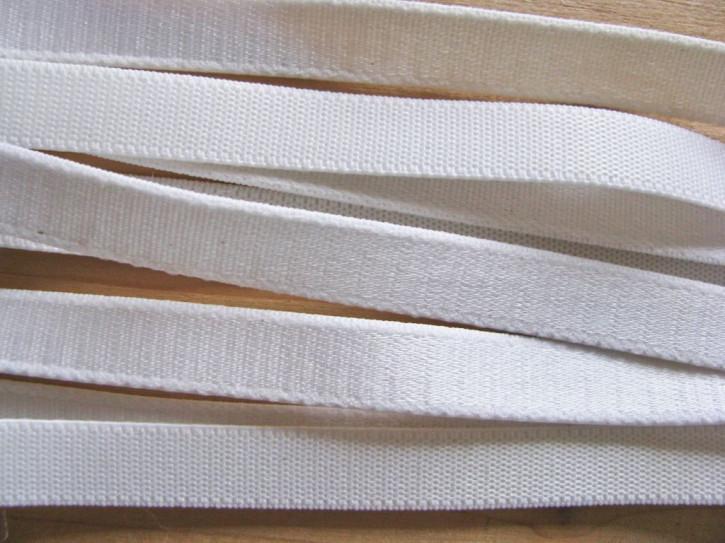 5m Satin-Träger-Gummi in rein-weiß Fb2000 - 10mm