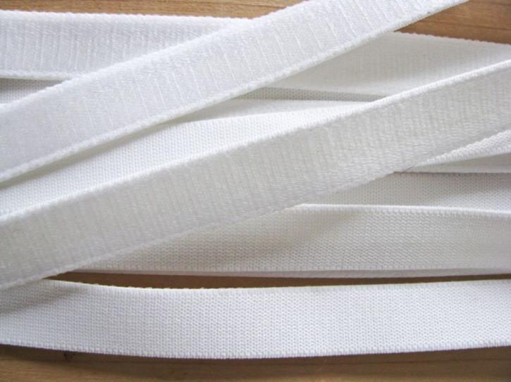 5m Satin-Träger-Gummi in rein-weiß Fb2000 - 14mm
