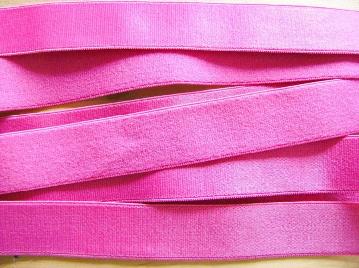 5m Satin-Träger-Gummi in kräftigem pink/lip-stick Fb1417