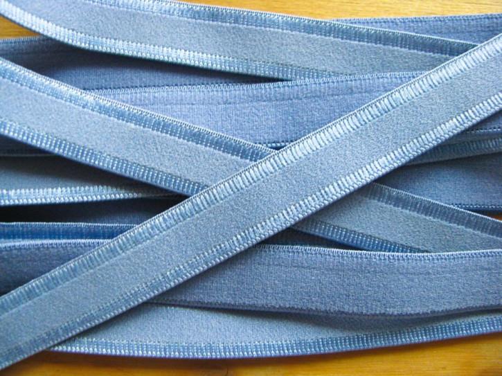 5m Träger-Gummi/Schulterband in avio-blau/puder-blau Fb1464