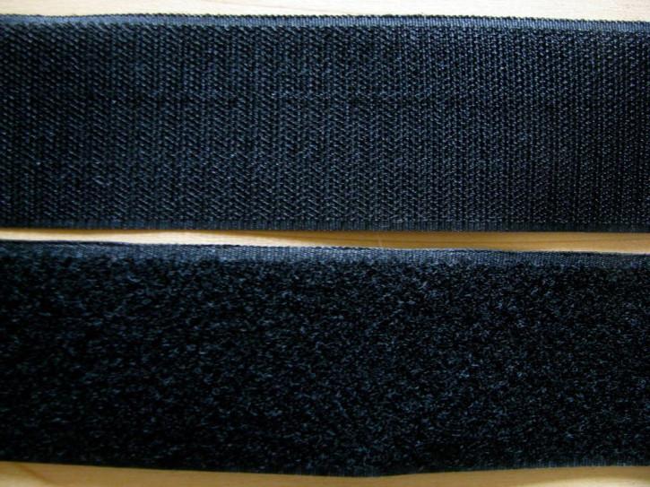 2m - Klettband in schwarz 50mm