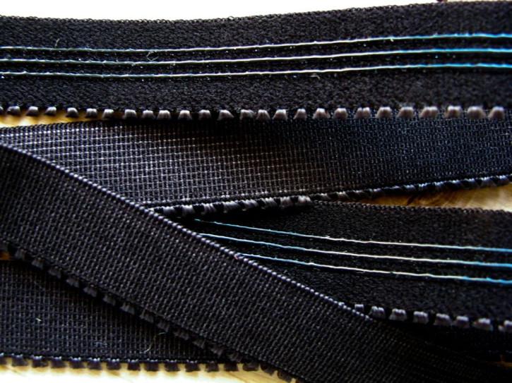 6m Unterbrustgummi in schwarz Fb4000 mit Silikonstreifen