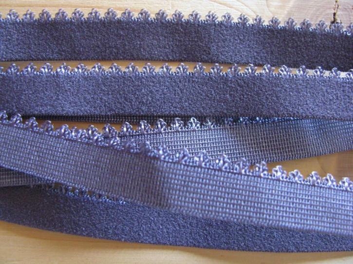 6m Unterbrustgummi in anemonen-blau Fb1085 mit Schmuckkante
