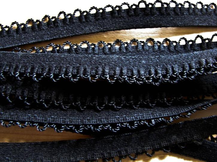 6m Unterbrustgummi in schwarz Fb4000