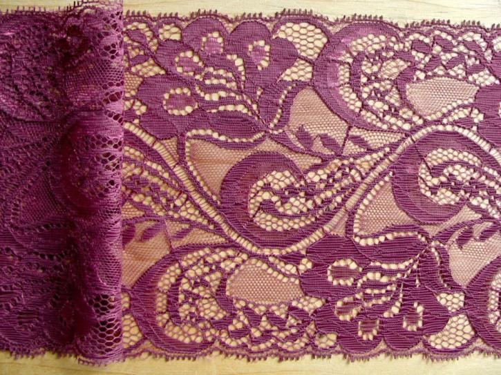 1m zarte Edel-Spitze in rot-violett Fb0056
