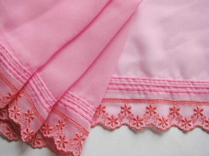 1m Edel-Spitze bestickt in bonbon-rosa Fb0067...