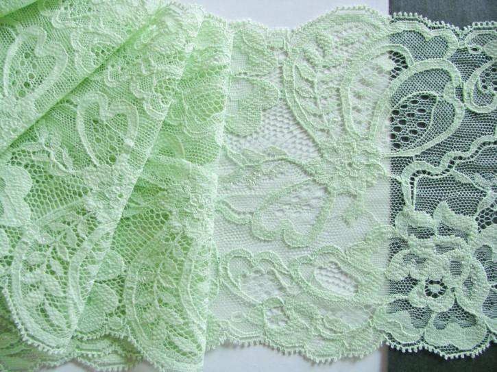 1m elastische Spitze in zart-grün Fb0091