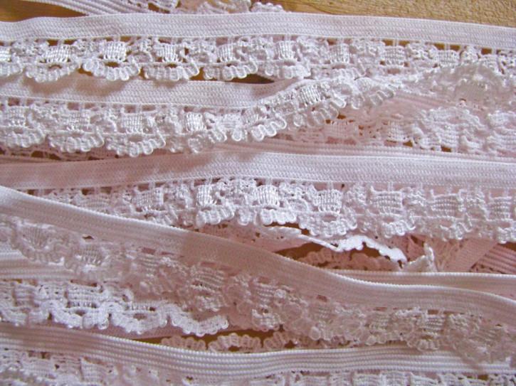 6m Spitzen-Wäschegummi in einem Hauch von rosa Fb0082