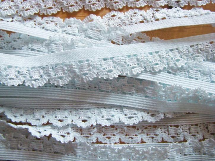 6m Spitzen-Wäschegummi in eisblau/pastell Fb0271