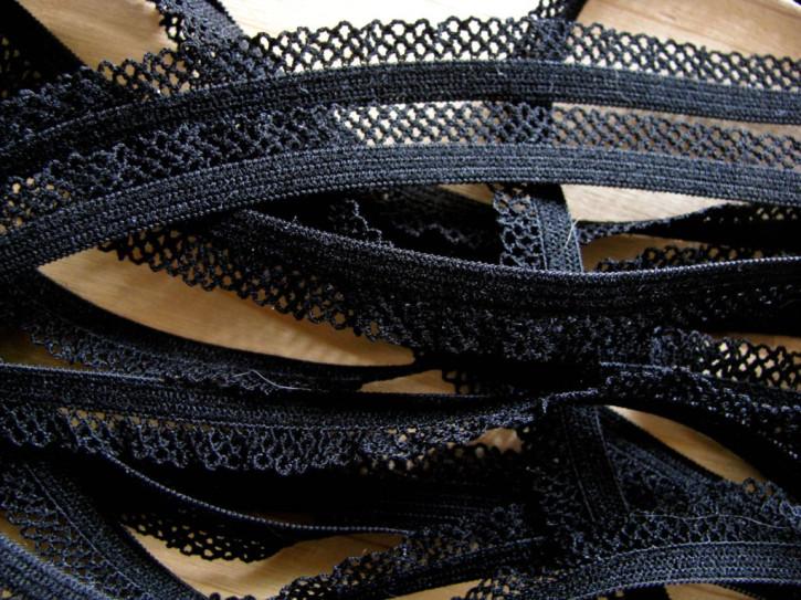 6m Schmuck-Wäschegummi in schwarz Fb4000