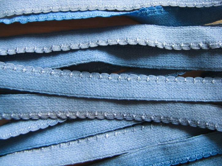 6m Wäsche-/Unterbrustgummi in puder-blau Fb1464