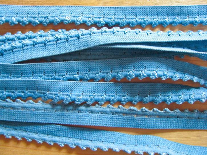 6m Schmuck-Wäschegummi in ozean-blau Fb0024