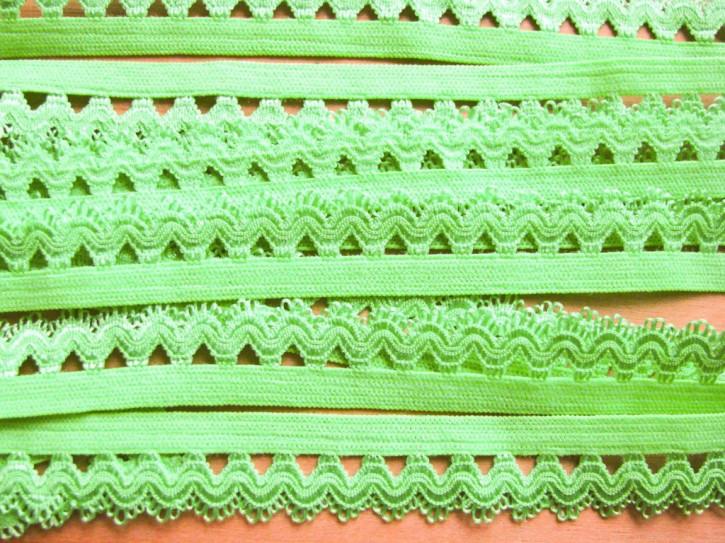 6m Schmuck-Wäschegummi in hell-grün Fb1099