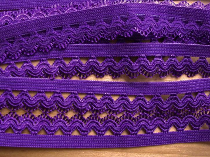 6m Schmuck-Wäschegummi in violett/veilchen-lila Fb0046