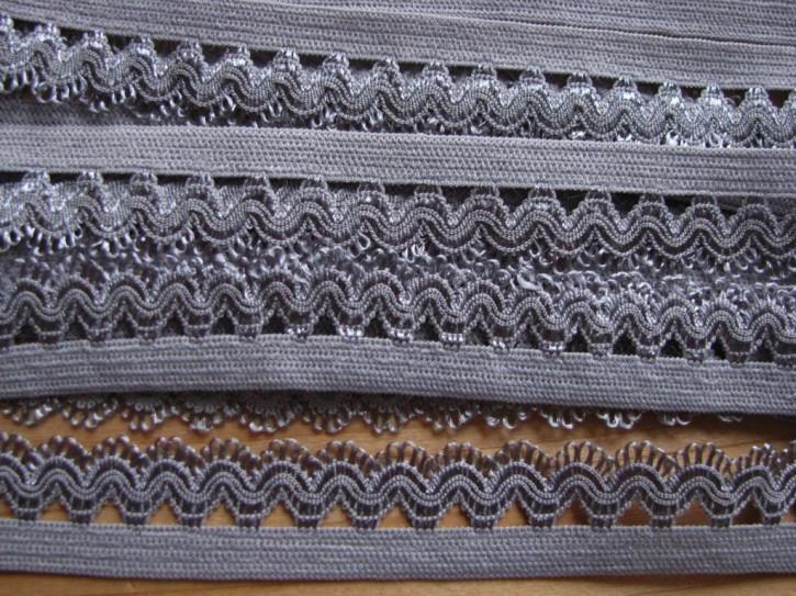 6m Schmuck-Wäschegummi in blei-grau Fb0852