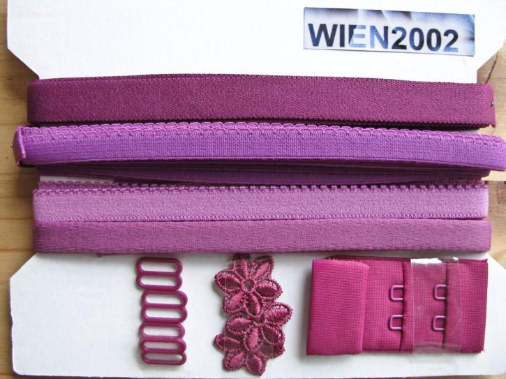 Kurzwarenpaket in zyklame/Richtung rot-violett Fb0575