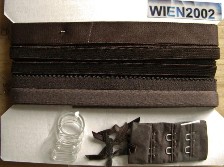 Kurzwarenpaket in dunkel-braun/mocca Fb0395