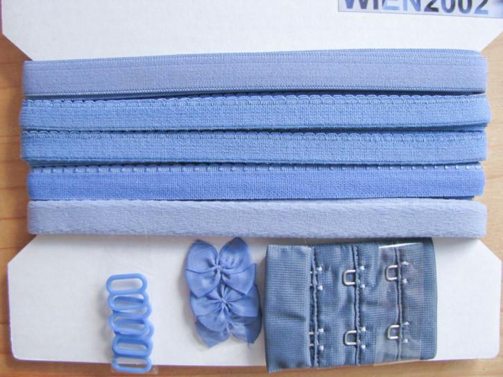 Kurzwarenpaket in puderblau Fb1464