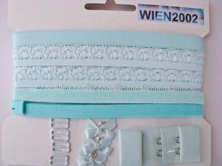 Kurzwarenpaket in hellem türkis-blau/wasser-blau Fb0998