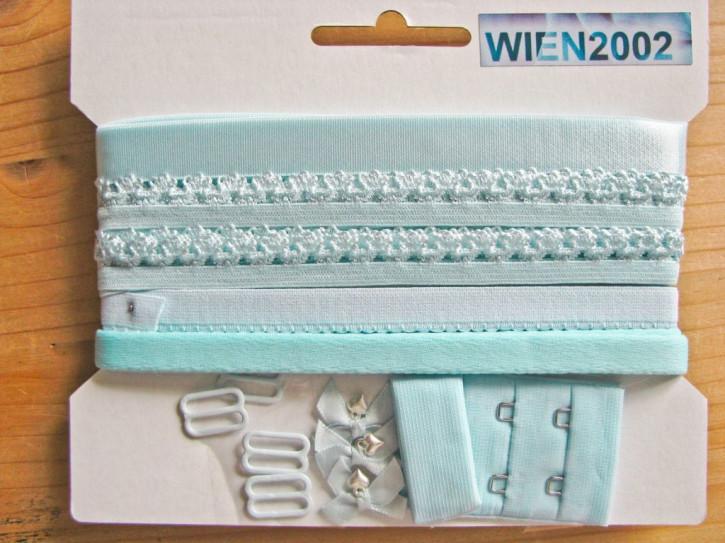 Kurzwarenpaket in wasser-blau/helles türkis Fb0998