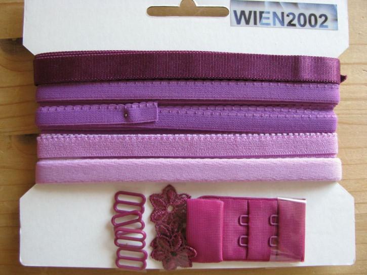 Kurzwarenpaket in magenta bis zyklame Fb1062