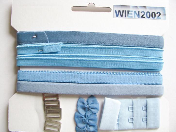 Kurzwarenpaket in avio-blau Fb1464