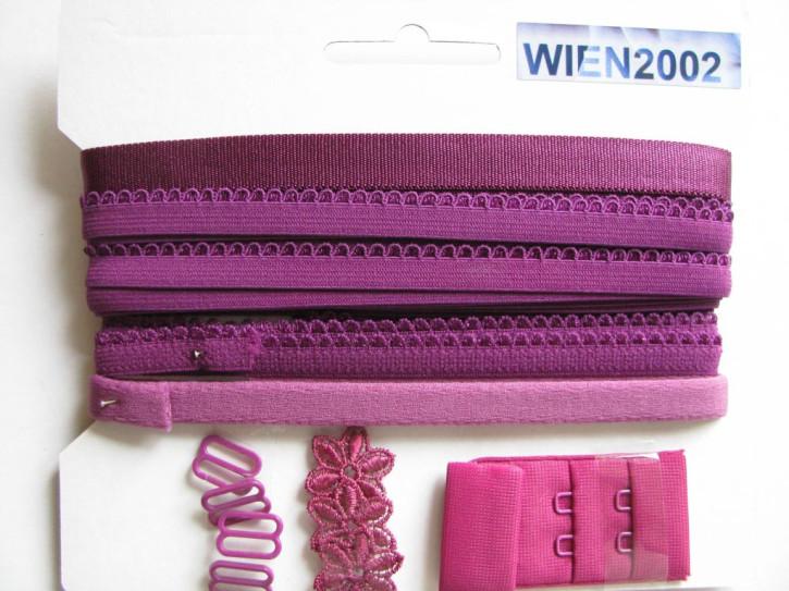 Kurzwarenpaket in burgonville/kräftigem purple Fb1061
