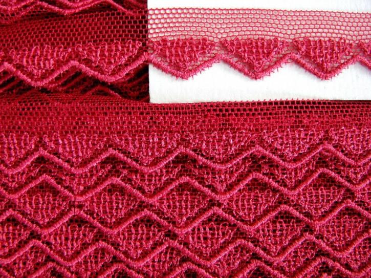 6m zarte Zierspitze in dunklem leinen-rot Fb1392