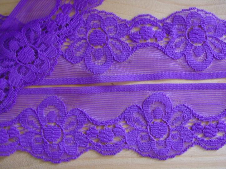 3m zarte Zierspitze in purpur-violett Fb0040