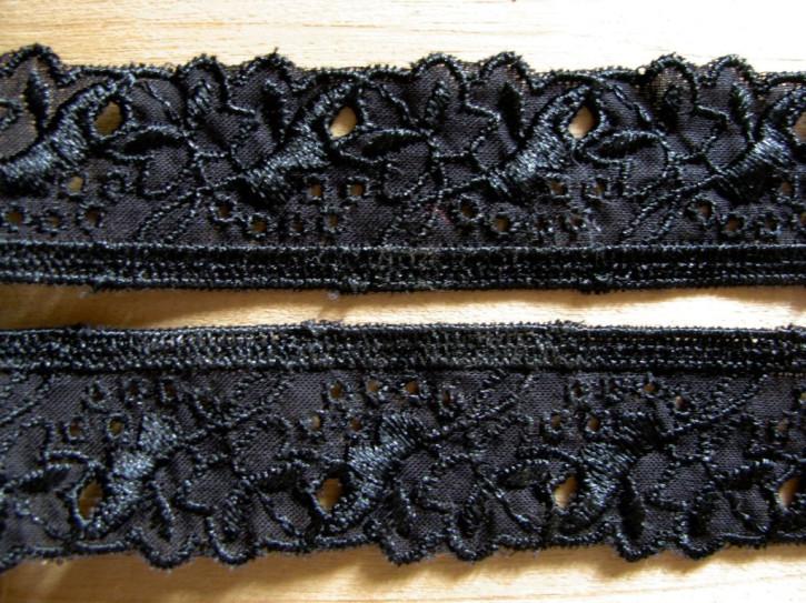 4m zarte Zierspitzen-Borte in schwarz Fb4000
