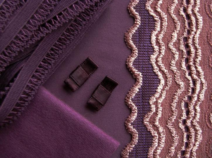 "1 Pkt. Materialpaket ""Waves in Aubergine"" - Slipset"