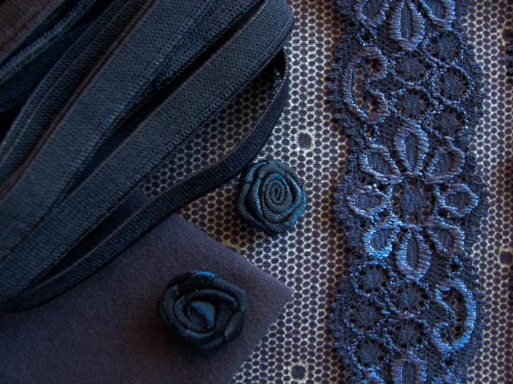 """1 Pkt. Materialpaket """"Blue Polka-Dots"""" - Slipset"""