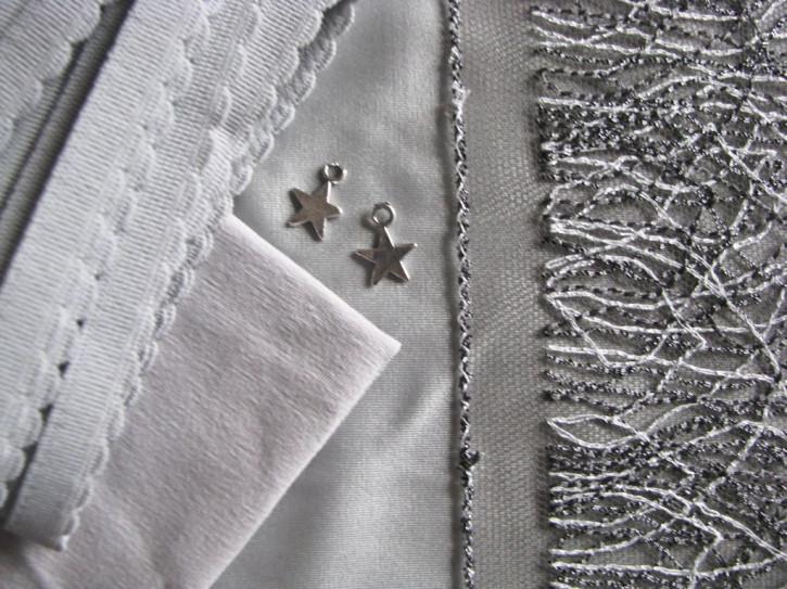 "1 Pkt. Materialpaket ""Glittering Silver"" - Slipset"