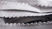 6m Unterbrustgummi in silber-grau Fb3501