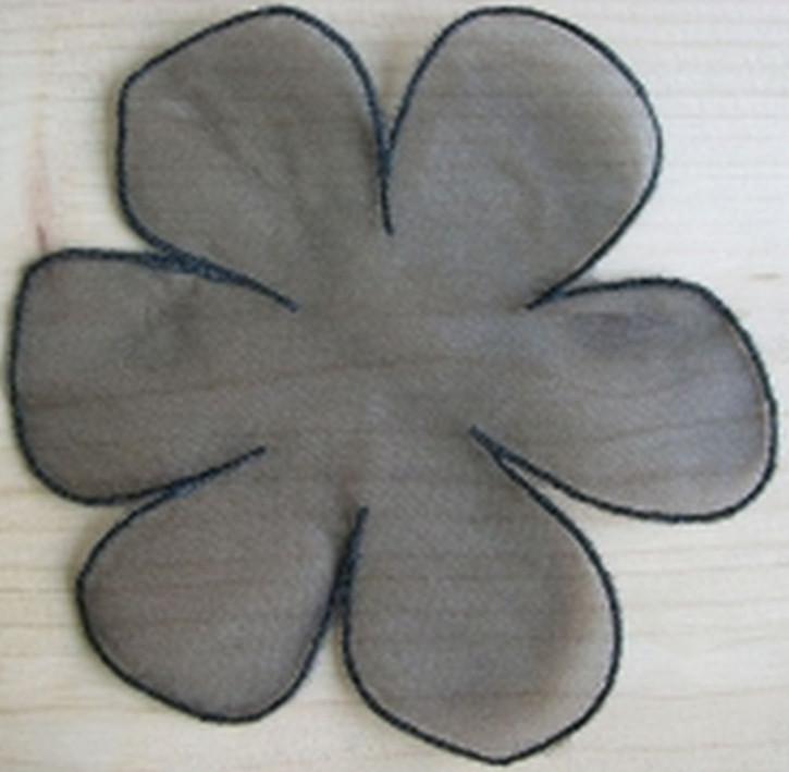 Spitzenapplikation - in schwarz