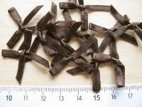 4 Schleifchen in negro-braun Fb1002