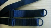 1 Paar fertige Träger in dunkel-blau