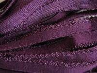 6m Unterbrustgummi in rot-violett
