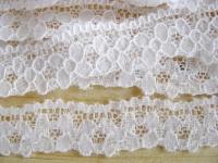 3m elastische Abschluss-Spitze rein-weiß
