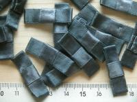 4 Schleifchen in stahl-grau