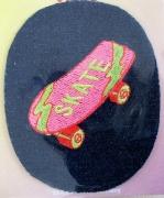 Bügelbild -Skateboard-
