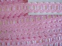 Schmuckborte mit zarten Lurexfäden in rosa