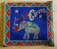 Nähapplikation, Aufnäher -Circus Elefant-