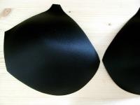 1 Paar BH-Körbchen/Schalen in schwarz 54er