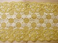 elastische Spitze in warmen sonnen-gelb Fb0120