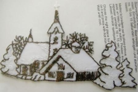 Bügelbild -Winterlandschaft-
